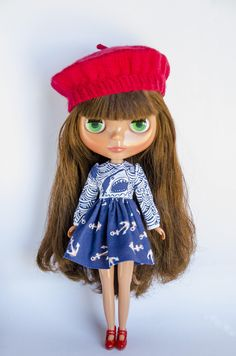 Anchors Aweigh, Handmade Dress for Neo Blythe Doll by Plastic Fashion by PlasticFashion on Etsy