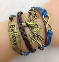 Blue & Brown Multi-strand Cord Bracelet, Faux Leather, Men, Womens, Boys or Girls Bracelet. 3pcs Bracelet-- Infinity, Bird & Believe Bracelet--antique Bronze Bracelet--wax Cords and Imitation Leather Bracelet AL001,http://www.amazon.com/dp/B00EXS8642/ref=cm_sw_r_pi_dp_vAnOsb0FKZ57DZ69