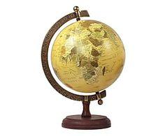 Mappamondo decor in ottone Le monde - 13x20x11 cm