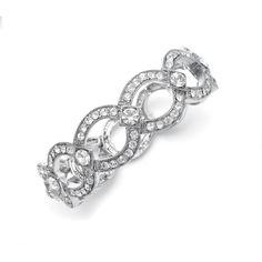 Vintage-Style Stretch Austrian Crystal Bracelet | www.glamadonnashop.com.au