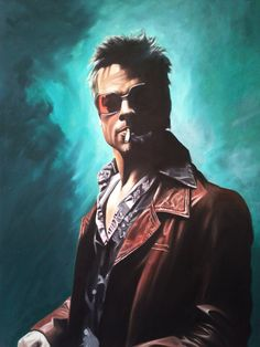 Tyler Durden oil painting by DanWilliamsArt on Etsy, £300.00