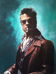 Tyler Durden oil painting by DanWilliamsArt on Etsy, £300.00