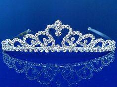 SC Bridal Tiara,Princess Tiara With Crystal Loops SparklyCrystal Bridal Tiara, Bridal Jewelry, Bridal Headpieces, Wedding Tiaras, Wedding Veils, Wedding Hair, Wedding Dress, Birthday Tiara, Gold Tiara