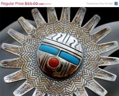 Big Sale Vintage Sun Aztec Sterling Silver by TheJewelryLadysStore, $44.00