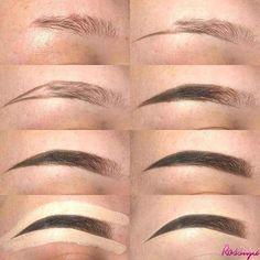 From thinning eyes to eyebrows. This door Von dünner werdenden Augen bis zu den Augenbrauen. Dieses Tutorial hilft Ihnen dabei, fantastisch auszusehen … From thinning eyes to eyebrows. This tutorial will help you look awesome … - Eyebrow Makeup Tips, Beauty Makeup, Eye Makeup, Makeup Eyebrows, Eyebrow Wax, Eyebrow Pencil, Beauty Nails, Makeup Brushes, Waterproof Eyebrow