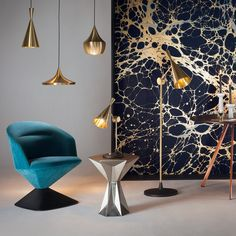 This handsome Beat Floor Floor Lamp was designed by Tom Dixon for his British label Tom Dixon.Tom Dixon was formed in 2002 with the goal of infusing new life in Diy Floor Lamp, Modern Floor Lamps, Brass Outdoor Lighting, Modern Lighting, Indian Lamps, Plumbing Pipe Furniture, Plywood Furniture, Modern Furniture, Furniture Design