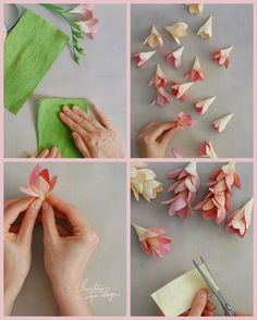 Crepe Paper Flowers Tutorial, Fabric Flower Tutorial, Wax Flowers, Fabric Flowers, Types Of Flower Arrangement, Flannel Flower, Paper Quilling Flowers, Romantic Flowers, Craft Box
