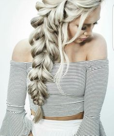 Big feminine side braid