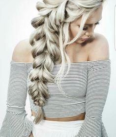 Big feminine side braid