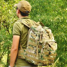Outdoor compass tactical backpack military mountaineering fans travel bag 3D casual backpack Camo backpack bag