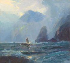 Sydney Laurence   Knowles Head, Prince William Sound, Alaska      The Coeur d'Alene Art Auction
