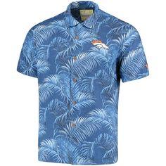 Men's Tommy Bahama Navy Denver Broncos Fez Fronds Woven Shirt