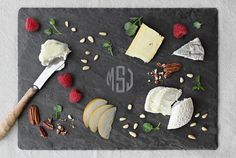 Support Small Business Saturday with a lovely purchase from the Brooklyn Slate Co. We're loving these new monogrammed cheese boards!