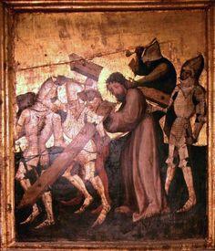 Torun Retable, Polonia (1390): Spallacci bombati con una lamella. Round shoulderpads with single articulation.