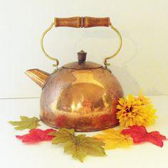 Tea Kettle Copper Revere Ware Tea Kettle Tea by TheVintagePorch, $25.00