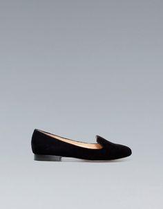 SLIPPER BASIC TERCIOPELO - Zapatos - Mujer - ZARA México