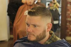 Bald Fade with a little Pomp