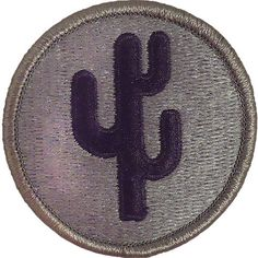"103rd Infantry Division ACU Patch – USAMM. Shoulder sleeve insignia worn on the upper right shoulders on Army uniforms denote former wartime service. These ""combat patches"" will not be worn on the new Army service uniform. Instead a 2-inch metal replica will be worn on the right breast pocket and is officially known as the Combat Service Identification Badge."