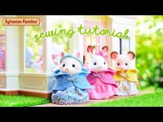 Miniature hooded cape DIY Sylvanian Families easy sewing tutorial (ITA sub ENG) - YouTube