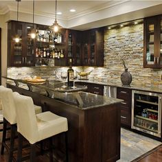 Elegant Basement Bar Ideas Pictures