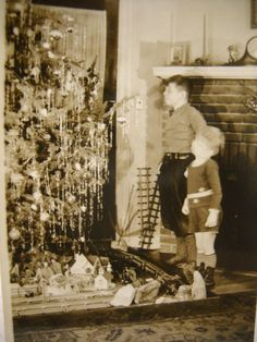 Christmas Photo c1930s Two Boys in Front of a by HolidayLegacies, $6.50
