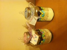 My sisters homemade twin baby shower favors:)