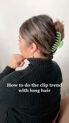 Clip Hairstyles, Easy Hairstyles For Long Hair, Hair Tips Video, Hair Videos, Hair Up Styles, Natural Hair Styles, Aesthetic Hair, Hair Color For Black Hair, Mode Inspiration