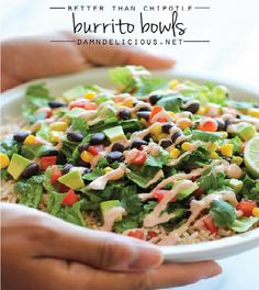 Easy Burrito Bowls | Eat and Exercise