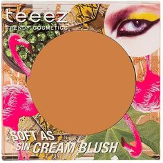 Teeez Cosmetics Soft as Sin Cream Blush ($26) ❤ liked on Polyvore featuring beauty products, makeup, cheek makeup, blush and sun tan taupe