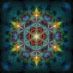 Flor de la Vida -  Fractal Mandala por Lilyas.deviantart.com