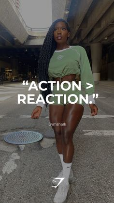 """""""Action > Reaction."""" - Gymshark. Save this to your motivational board for a reminder! #Gymshark #Quotes #Motivational #Inspiration #Motivate #Phrases #Inspire #Fitness #FitnessQuotes #MotivationalQuotes #Positivity #Routine #HealthyMindset #Productive #Dreams #Planning #LifeGoals Motivational Board, Inspirational Quotes, Sport Inspiration, Life Goals, Motivationalquotes, Quote Of The Day, Routine, Muscle, Action"""