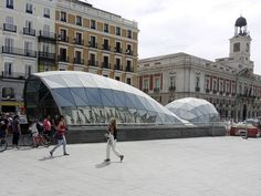 Puerta del Sol Metro station in Madrid, Spain