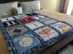Custom T-Shirt Quilt in Two Sizes – Quilt Store Next Door Shirt Quilt, Next Door, Quilts, Blanket, Store, T Shirt, Comforters, Tent, Tee