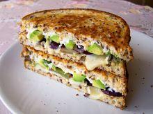 Brie, Grape & Avocado Grilled Sandwich - (Free Recipe below)