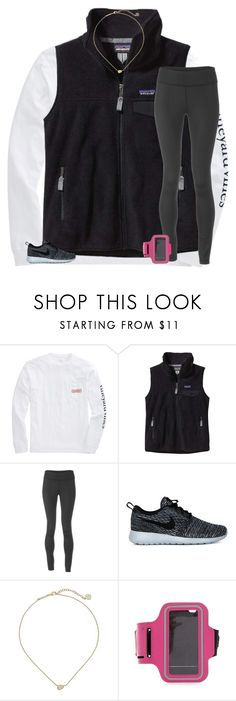 """""""so tired"""" by secfashion13 ❤ liked on Polyvore featuring moda, Patagonia, Under Armour, NIKE, Kendra Scott, women's clothing, women's fashion, women, female y woman"""