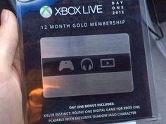 """A,B,C...Games: Xbox One pone a la venta las tarjetas de Xbox Live """"One Day"""""""