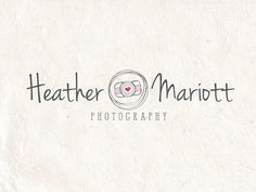 Premade Photography logo design and photography logo Watermark. sketched Camera logo and heart logo. on Etsy, $19.99