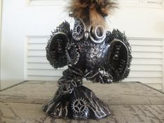 steampunk assemblage OOAK recycled upcycled by IntrinsicFiction, $65.00
