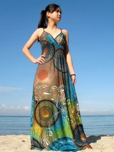 Plus Size Dress Long Maxi Dress Moon Collection by myuniverse, $55.00