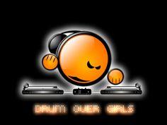 Drum over girls - dj, drum over girls, music, d o g, emoticon