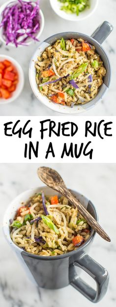 Did you know that you could cook egg fried rice in a mug? This flavorful microwaved fried rice is ready in minutes.