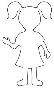 Boy pattern. Use the printable outline for crafts