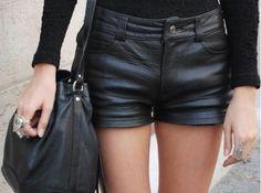 leather shorts, YES