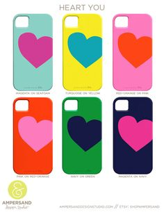 new colors added: iPhone 4 or 5 case - Heart You. $39.00, via Etsy.