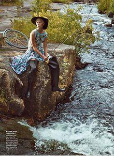 Karlie Kloss By Patrick Demarchelier for Vogue Dec 2014