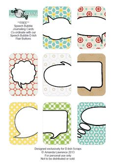 Planner & Journaling Printables ❤ Free Speech Bubbles