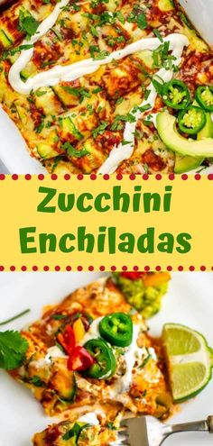 "This recipe for zucchini enchiladas is a perfect weeknight meal that the whole family will love! Made with ""zucchini tortillas,"" shredded chicken, enchilada sauce and shredded cheese. It's low carb, gluten-free, paleo-friendly and keto-friendly! Delicious Cookie Recipes, Easy Appetizer Recipes, Yummy Appetizers, Easy Healthy Recipes, Quick Easy Meals, Healthy Drinks, Easy Dinner Recipes, Healthy Eats, Delicious Food"