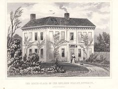 Print of Wesley's birthplace c 1820