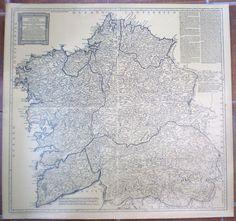 Mapa xeográfico do Reyno da Galiza /  Mapa geográfico del Reyno de Galicia / Geographical map of the Kingdom of Galicia / Geographische Karte des Königreichs Galizien