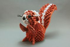 Esquilo em origami 3D | Flickr - Photo Sharing!